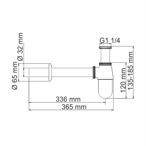 A095 Siphon for washbasin
