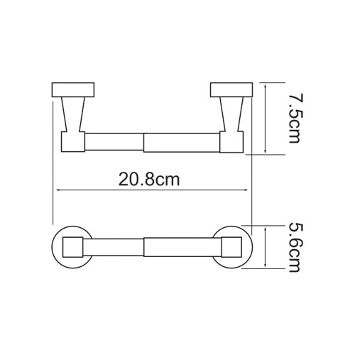 K-4022 Toilettenpapierhalter offene Form