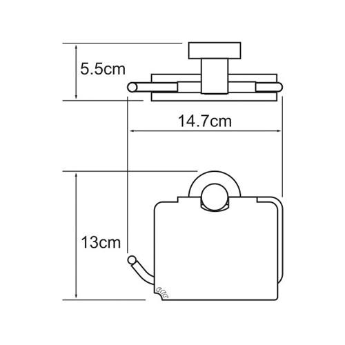 K-4025 Toilettenpapierhalter mit Deckel