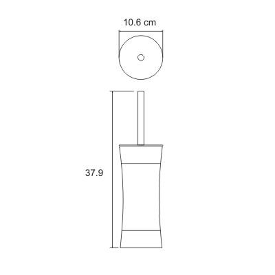 K-7527 Toilettenbürstengarnitur Standmodell